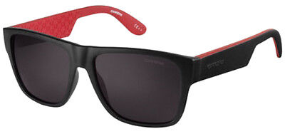 Carrera Men's Matte Black/Dark Red Square Sunglasses 5002L 0OW0 NR