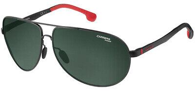 Carrera Polarized Men's Matte Black Aviator Sunglasses - 8023S 0003 (Carrera Black Aviator Sunglasses)