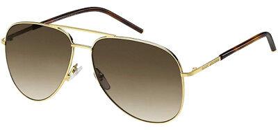 Marc Jacobs Polarized Shiny Gold Aviator Sunglasses - 60S 0TAV LA