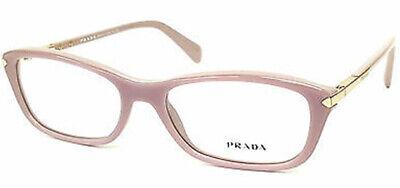 Prada Women's Pink Soft Rectangle Eyeglass Frames - Made in Italy