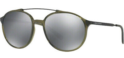 Armani Exchange Men's Pilot Sunglasses w/ Silver Flash Lens - AX4069S (Cheap Men S Sunglasses)