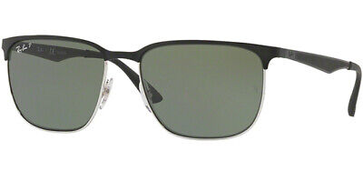 Ray-Ban Polarized Men's Black Brow-Line Sunglasses RB3569 90049A (Ray Bans Men)
