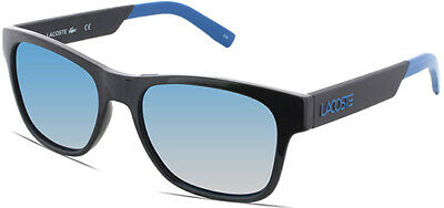Lacoste Men's Black Square Sunglasses w/ Blue Flash Lens - L829S (Cheap Men S Sunglasses)