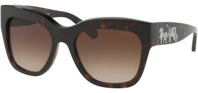Coach Women's Dark Tortoise Oversize Sunglasses w/ Gradient Lens - HC8213 (Coach Shades)