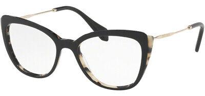 Miu Miu Optical Women's White Havana/Top Black Eyeglass Frames - MU02QV (Miu Miu Optical Frames)