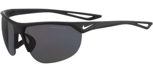 Nike Mens Cross Trainer Matte Black/White with Grey Polarized Lens Sunglasses
