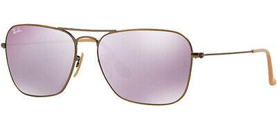 Ray-Ban Caravan Men's Bronze Sunglasses w/ Mirrored Glass Lens - RB3136 (Rayban 3136)