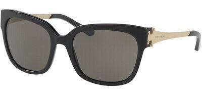 Tory Burch Sunglasses TY7110-13773-57 Black Gold Frame CAT-EYE Grey Lens (Tory Burch Metal Cat Eye Sunglasses)