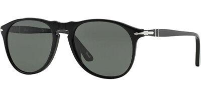 Persol Polarized Black Pilot Sunglasses w/ Glass Lens PO9649S 9558 - Italy