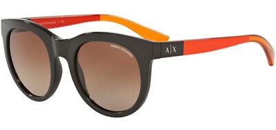 Armani Exchange Women's Phantom Brown Rounded Cat-Eye Sunglasses AX4053SF (Brown Cat Eye Sunglasses)