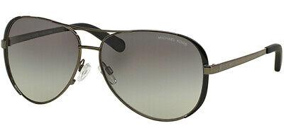 Michael Kors Chelsea Women's Gunmetal/Black Aviator Sunglasses MK5004 101311 59