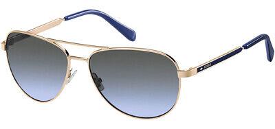 Fossil Women's Rose Gold-Tone Aviator Sunglasses - FOS3065S 0000 GB
