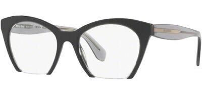 Miu Miu Optical Women's Transparent Black Eyeglass Frames - MU03QV (Miu Miu Optical Frames)