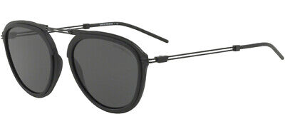 Emporio Armani Men's Matte Black Modified Pilot Sunglasses - EA2056 300187 (Emporio Sunglasses)