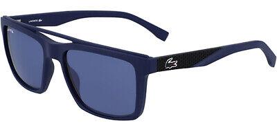 Lacoste Men's Blue Matte Brow Bar Square Sunglasses - L899S (Brow Bar Sunglasses)