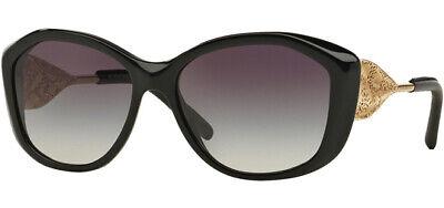 Burberry Women's Black Oversize Round Sunglasses - BE4208Q 30018G - Italy Burberry Oversize Round Sunglasses