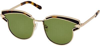 Karen Walker Felipe Women's Tortoise Browline Cat-Eye Sunglasses - (Tortoise Cat Eye Sunglasses)