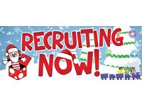 10 DAYS TIL XMAS - Immediate start available.