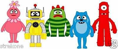 Yo Gabba Gabba Stickers (YO GABBA GABBA Group shot - Childrens Cartoon show - Window Cling Sticker)