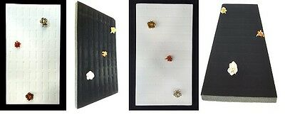Display Foam Insert (72 Slot Ring Jewelry Tray Foam Insert Display Pad Liner Black & White 2)