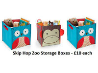 3 x Skip Hop Zoo Storage Boxes