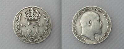 Collectable 1909 King Edward VII Silver Threepence - Lot 1