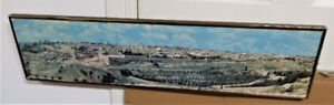 JERUSALEM - Older Large Panoramic Print of Jerusalem in Frame