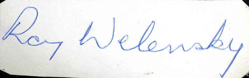 SIR ROY WELENSKY - SIGNATURE(S)