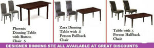 SALE ON DINNING, COFFEE TABLES, OTTOMAN CHAIRS, BENCHES