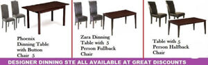 AWESOME SALE ON DINING, COFFEE TABLES, OTTOMAN CHAIRS,BENCHES