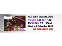 Final Call for Entries to Artists - END 31TH AUGUST