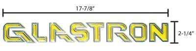 Glastron 2004 2005 2006 SX Yellow Boat Decal Sticker Logo