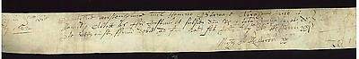 1618 Paper with Writing ? Part of Document