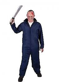 DANNY FROM GREASE MAD MECHANIC / MICHAEL MYERS HALLOWEEN MOVIE BLUE BOILER SUIT SIZE L