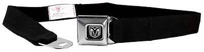 Seatbelt Men Canvas Web Military Webbing Dodge Ram 1500 Black Logo Quality