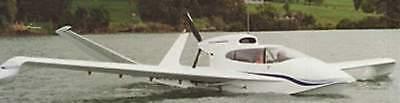 Seaflight Shearwater Amphibian Airplane Desktop Wood Model Large Free Shipping