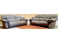 3+3 seater sofas. Delivery available
