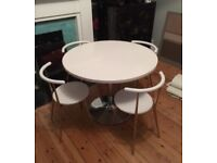 JOHN LEWIS round 4 seater kitchen/dining table and 4 chairs