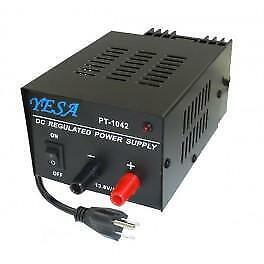 DC REGULATED POWER SUPPLY 5 AMP, 10 AMP, 15 AMP, 20 AMP, 25 30 AMP, CONVERTS 110 VOLTS AC TO 13.8 VOLT DC POWER SUPPLY