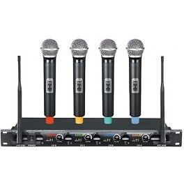 PPA41: 4-Channel UHF Wireless Microphone System