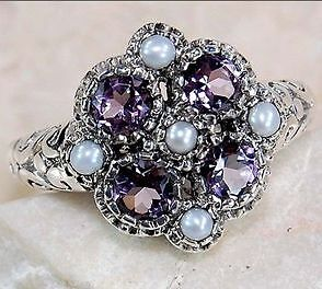 4 Amethyst RINGS  -CLEARANCE- OVER 100 JEWELS IN ADS