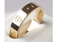 Gold Cartier Dupe Ring (Size 8)