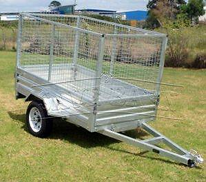 7x4 Trailer with Cage Klemzig Port Adelaide Area Preview