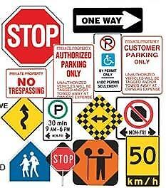 SIGNS - PARKING REGULATIONS - TRAFFIC CONTROL - WARNING