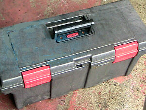 Toolbox, Very strong.   Rubber made for $20.00  25cm x 25 cm x 7