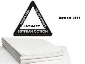 PAIR WHITE & CREAM PILLOW CASES 100% EGYPTIAN COTTON HOTEL QUALITY BEDDING SALE