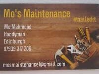 Are you looking for a painter, general all round handyman? Call Mo's Maintenance!