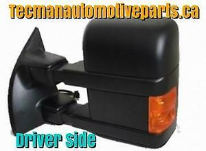 Towing mirror Trailer tow mirror For Ford F250 F350 F450 2008 - 2016 Driver side Black