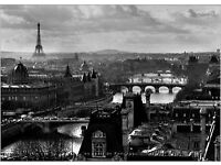 Black and White PARIS Canvas Print