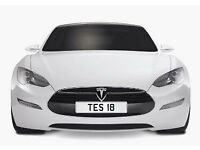 TES 18 cherished number plate private plate TESSA TESLA